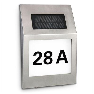 LED-es napelemes házszámtábla II.