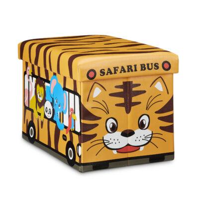 Safari buszos gyerekszobai ülőke és puff