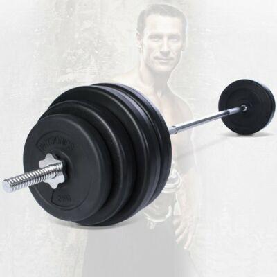 60 kg súlyzó szett egyenes rúddal