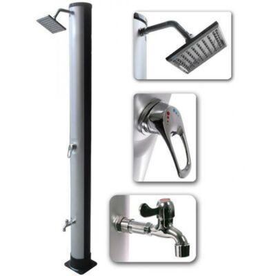 XL-es 35L szolár zuhany négyszögletű zuhanyfejjel