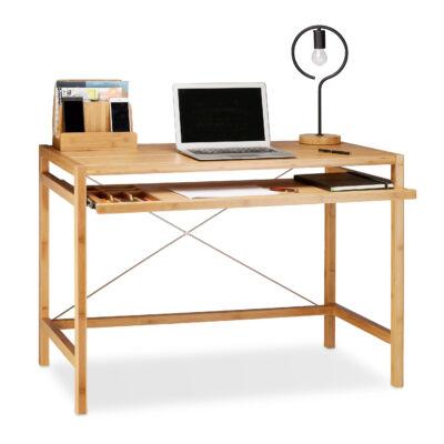 Bambusz Íróasztal és Számítógép Asztal