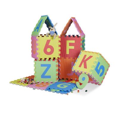 86 db-os Habszivacs Puzzle Szőnyeg Gyerekeknek