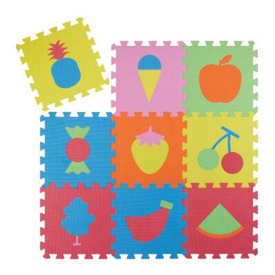 Gyümölcs Mintás Habszivacs Puzzle Szőnyeg Gyerekeknek
