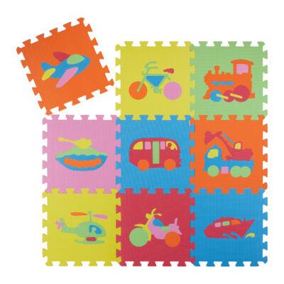 Jármű Mintás Habszivacs Puzzle Szőnyeg Gyerekeknek