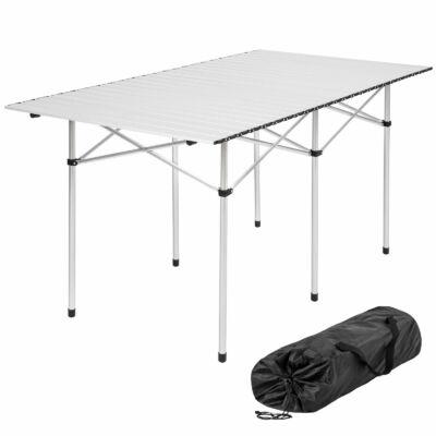 Hordozható Alumínium Kemping Asztal 140 x 70 x 70 cm