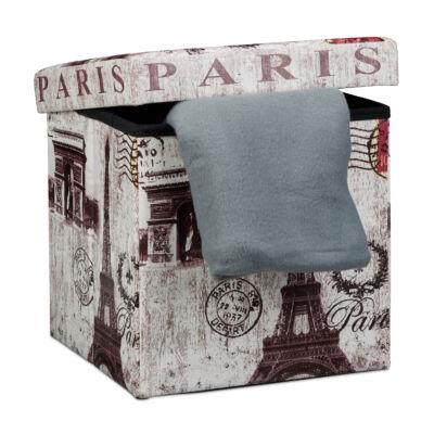""" Paris "" műbőr ülőke, puff"