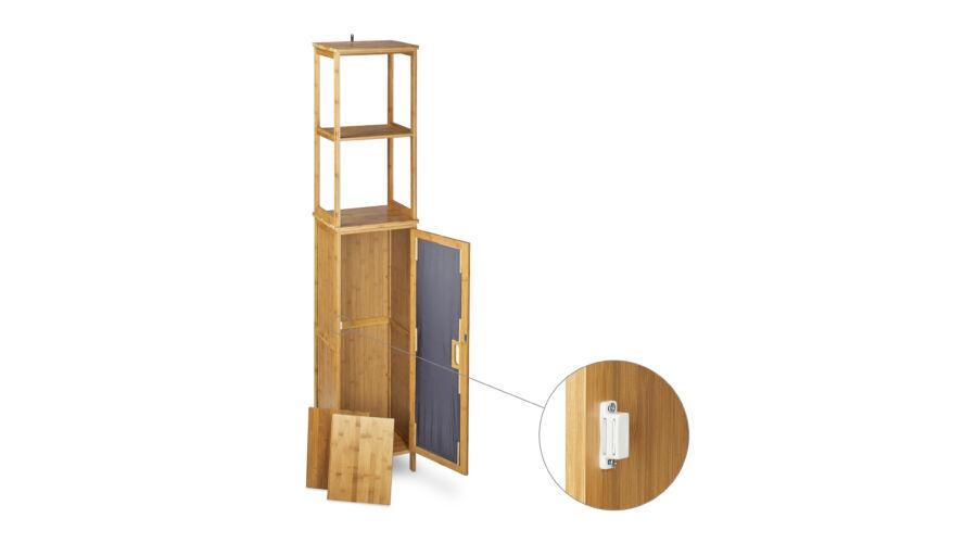 AKINO Bambusz Fürdőszoba Polc - Fürdőszoba polc - trendotthon