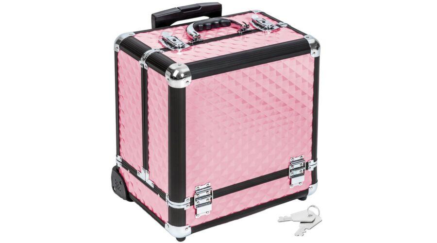Pandora aluminium bőrönd rózsaszín - Kozmetikai és Utazó Bőrönd ... eef4c6cf4b