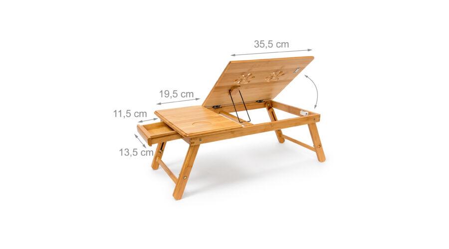 a22bf12c5c3d KIHO Bambusz Laptop Asztal - Laptop Tartó Asztal és Állvány ...