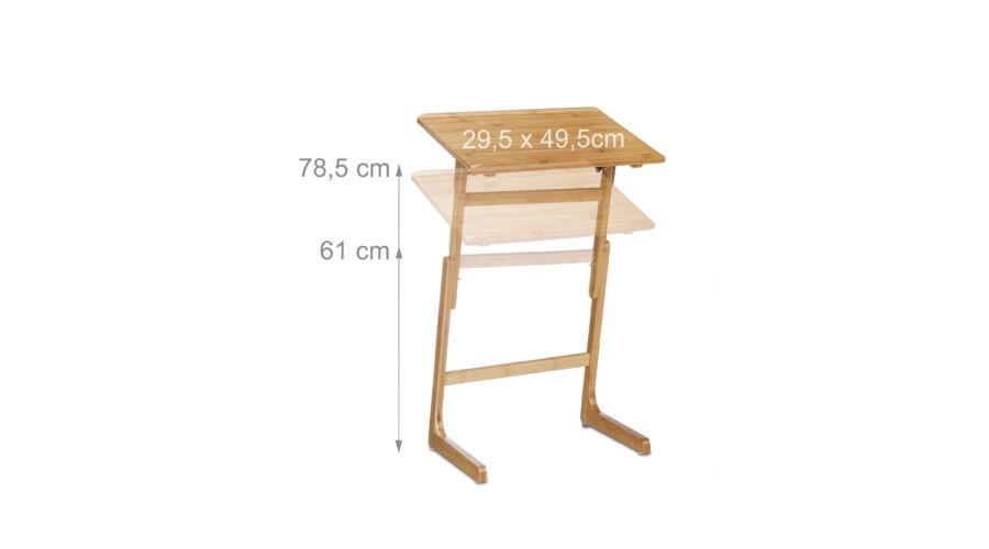 8ead2b48b7cc Állítható Bambusz Laptop Asztal - Laptop Tartó Asztal és Állvány ...