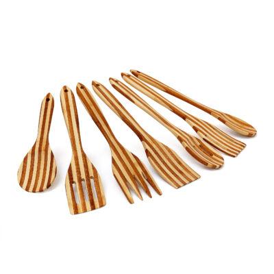 7 db-os bambusz konyhai eszköz készlet