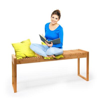 bambusz beltéri pad két három személyes ülőpad