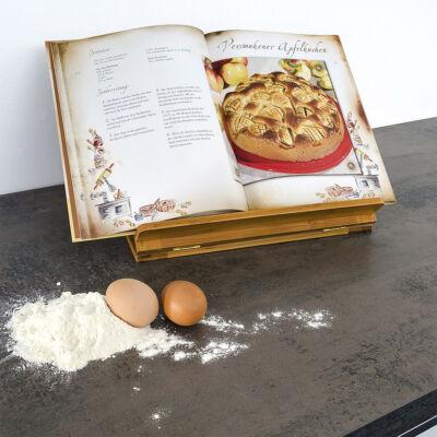 Bambusz  Könyv, kotta és szakácskönyvtartó állvány