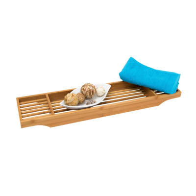 ines bambuszból készült fürdőkád tálca