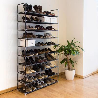 cipőtartó állvány 2 színben 50 pár cipőnek