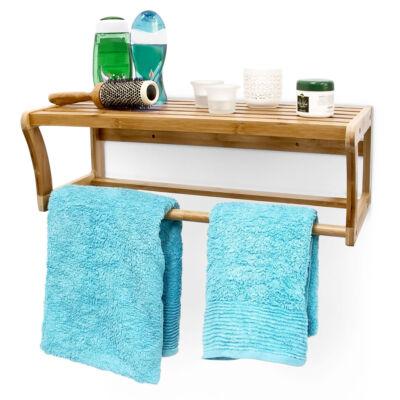 Lea bambuszból készült két oldalon zárt fürdőszoba polc