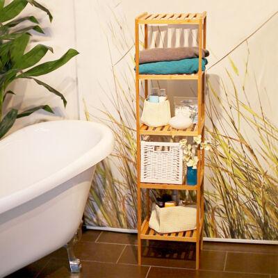 IRÉN 5 Polcos Bambusz Fürdőszoba Polc