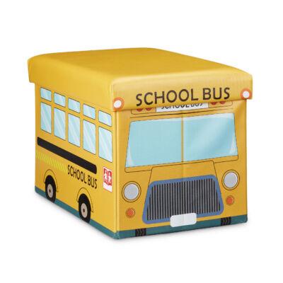 Iskolabusz mintájú gerekszobai puff