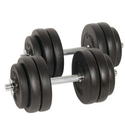 30 kg (2 x 15 kg) súlyzó szett