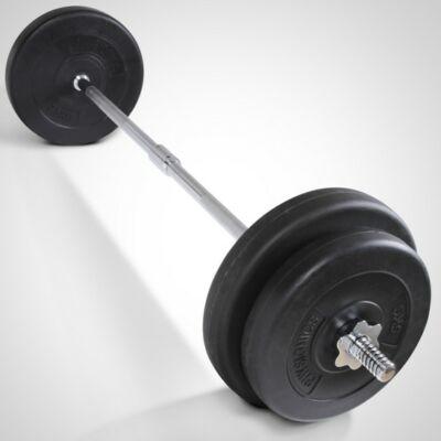 30 kg súlyzó szett egyenes rúddal