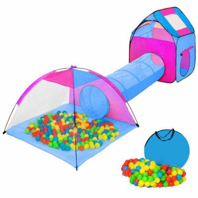színes nagyméretű gyermek játszósátor labdákkal együtt