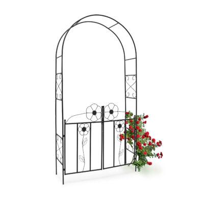 Rózsafuttató keret nyitható kapuval