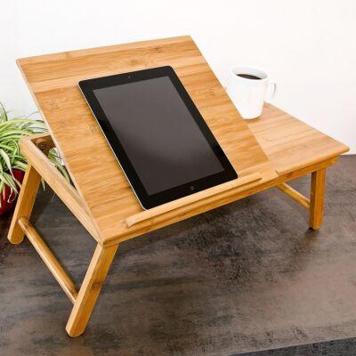 Kiko bambusz laptop tartó kihajtható lábakkal