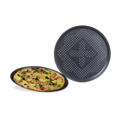 Kerek pizzakészítő tálcák szettben