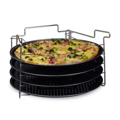 Pizza Készítő Szett 4 db Pizza Tálcával Ø 32 cm