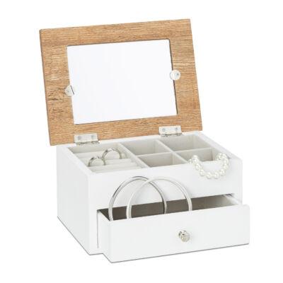 Doren kismétetű kétrekeszes ékszertartó doboz