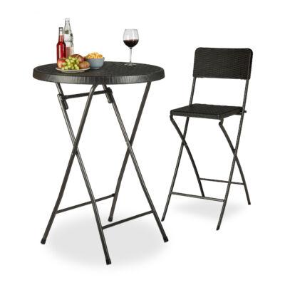 BASTIAN Rattan Hatású Álló Asztal, Bárasztal