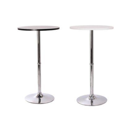 Color bárasztal MDF asztallappal és krómozott acél vázzal két féle színben
