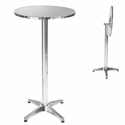 aluminium báraszal és bisztróasztal dönthető asztallappal