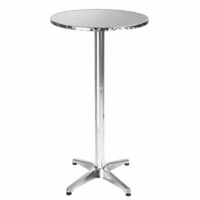 aluminium bárasztal 2 féle magasság beállítható