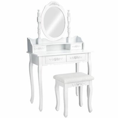Gyönyörűen díszített Sarah fésülködő asztal égy darab fiókkal és nagyméretű tükörrel