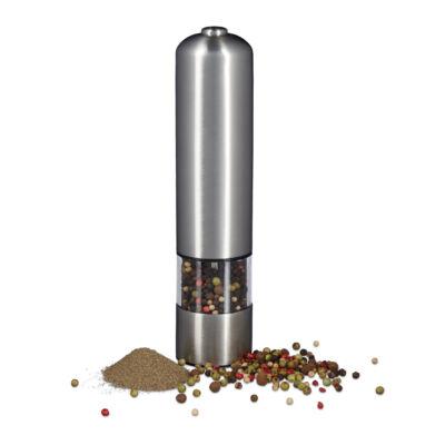 Rozsdamentes acél só és bors örlő elektromos