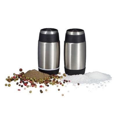 Inox asztali só és borstartó szett