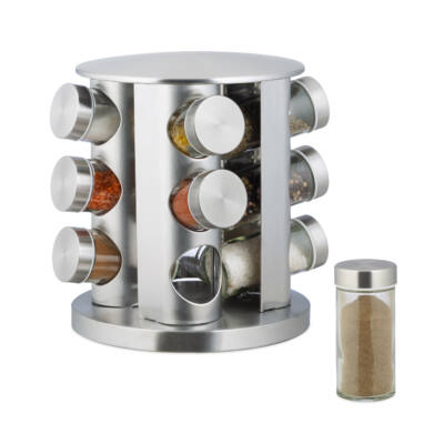 Spice forgatható fűszertartó állvány rozdamentes acél