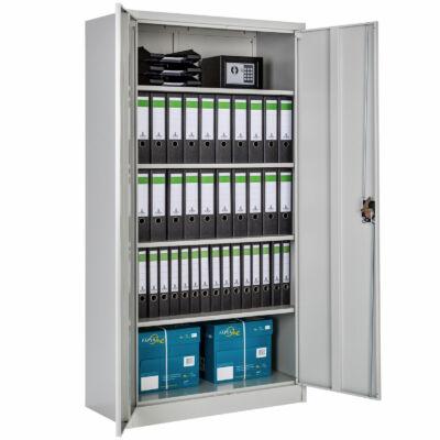 5 polcos dokumentumok tárolására alkalmas fém szekrény
