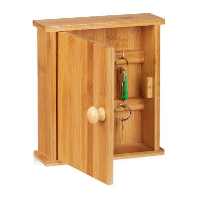 Bambusz Kulcstartó Szekrény, 6 db Kulcsnak