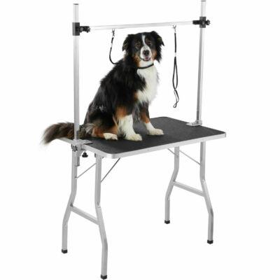 Állítható méretű pillanatok alatt lapraszerelhető kutyakozmetikai asztal