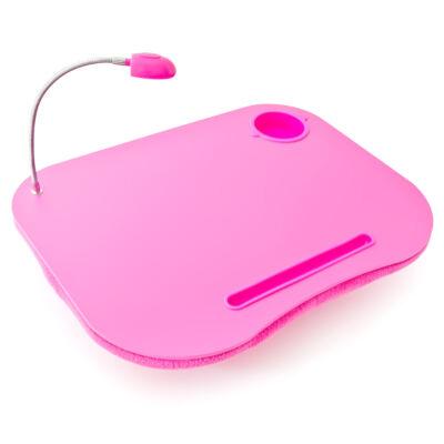 Pink laptop és tablet tartó párna Led fénnyel