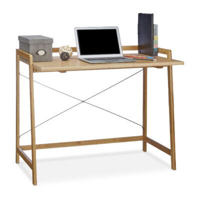 Bambusz íróasztal és számítógépasztal használatra készen