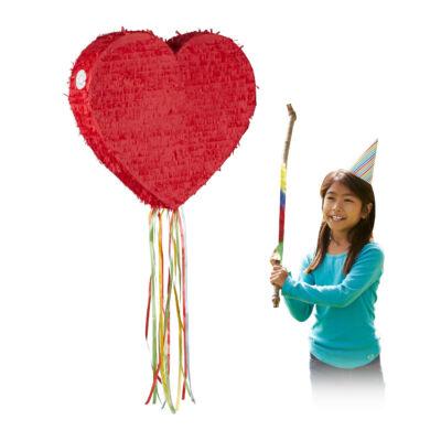 Szív Pinata Húzós Kivitel