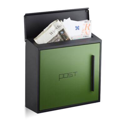 Felix zöld-fekete szín összeálíltású modern kültéri postaláda