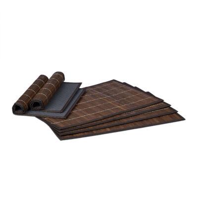 HUA 6 Darabos Bambusz Tányéralátét Szett