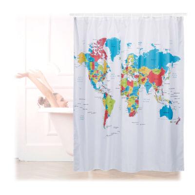 Atlasz mintás zuhanyfüggöny 180 x 180 cm méretben