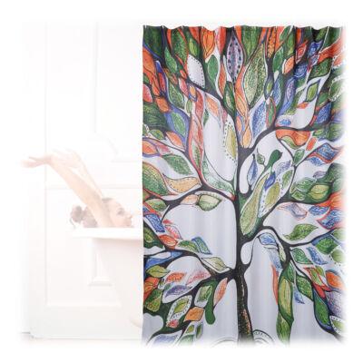 Fa mintás Zuhanyfüggöny 200 x 180 cm