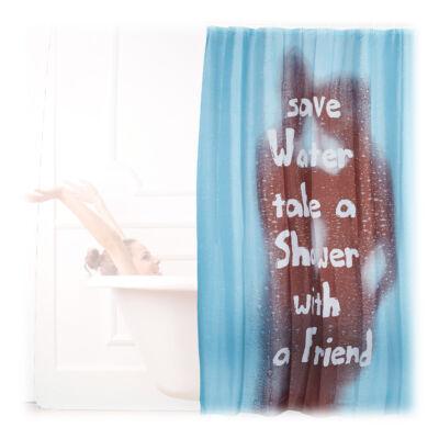SAVE WATER Zuhanyfüggöny 200 x 180 cm