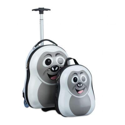 Vidra mintás gyerek hátizsák és bőrönd két darabos szettben